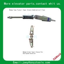 Elevador pigtail taper manga combinação de elevador Tipo de cunha combinação de luva cônica pigtail C Tipo
