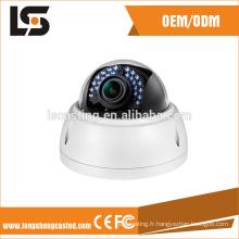 cctv dôme caméra couverture de sécurité en aluminium moulé sous pression