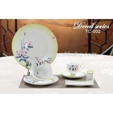 Vaisselle de table indienne avec logo en couleur décalque artisanale personnalisée