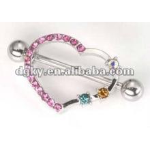 Aço inoxidável jóias loja piercing mamilos, mamilo alongamento