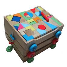 Блоки в 3 в 1 деревянной игрушке для сборки тележки