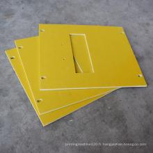 Découpe de feuille d'isolation en fibre de verre époxy jaune 3240