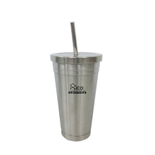Stainless Steel Vacuum Mug with Straw (WMSV-2510SS)
