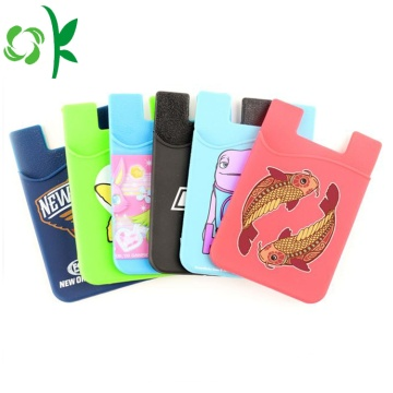 Adhesive Silicone Kreditkort Stick Card Holder Phone