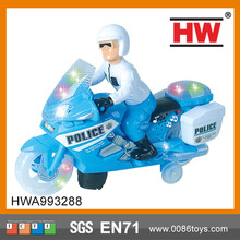 Police Toy Motorcycle with  Lights plastic toy motorcycle