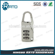 Small Button 3 Digital Plastic Silver Light Padlock for Small Bag