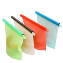 Reusable silicone food fresh bag silicone sandwich bag