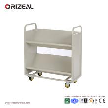 ORIZEAL Mobile Bookshelf chariot de bibliothèque mobile