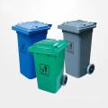 Hochwertige Outdoor Plastik Mülleimer mit Rädern (YW0010)