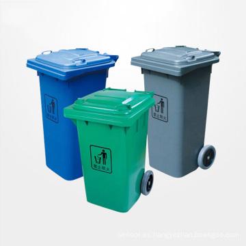 Cubo de basura de plástico de alta calidad al aire libre con ruedas (YW0010)