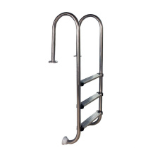Stainless steel inground swimming pool heavy duty ladder with handrail