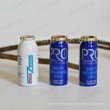 Recipiente pequeno de aerossol de alumínio para embalagem de spray refrescante de respiração (PPC-AAC-036)
