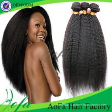 Лучшее Качество Девы Человеческих Волос Натуральный Черный Монгольский Парики Волос