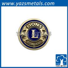 Insígnias personalizadas de Lion Club International de alta qualidade / lapela pin / tags