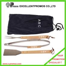 Набор инструментов BBQ промотирования с деревянной ручкой (EP-B1252)