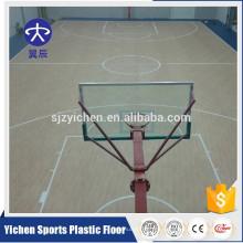 Diseño de arce suelo de deporte de cancha de baloncesto interior / suelo de deportes pvc alfombra