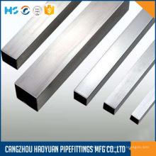 Tubería de sección rectangular rectangular de acero inoxidable 316L