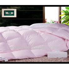 colcha de color sólido de algodón rosa bebé