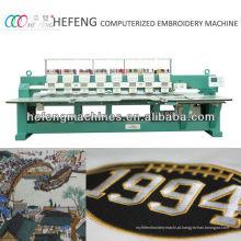 Máquina de bordar plana computadorizada de alta velocidade de 8 cabeças