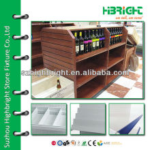 laminated MDF hyper market wine display shelf