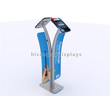 Nuevos Metal Freestanding Double Sides Nuevos Productos de Diseño Marketing Trade Show Multi Pad Display Stand