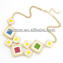 Späteste 2014 Frühlingsart Frauen Chunky Halsketten-Entwürfe