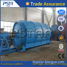 High oil output recycle car tires to fuel oil pyrolysis machine