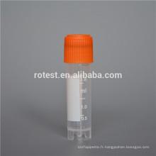 Tube d'usine de cryo cryovial / plastique de prix usine