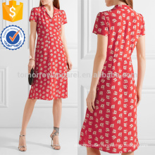 Floral-print Silk Crepe De Chine Dress Manufacture Wholesale Fashion Women Apparel (TA4095D)