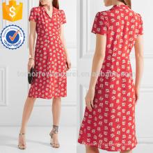 Floral de impressão de seda Crepe De Chine Dress Fabricação Atacado Moda Feminina Vestuário (TA4095D)