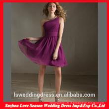 HC 4282 A venda completa uma linha sem mangas vestidos roxos um ombro para gordinho