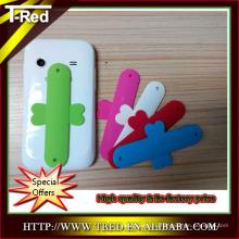 Творческий мини одним логотипом Сенсорный U силиконовые забавный сотовый телефон держатель для регистрации