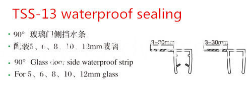 Shower Room Glass Door Waterproof Seal Seal Stip