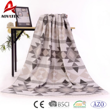 Preço de fábrica 100% acrílico tecido cobertor jaquard