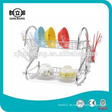 S Form Heißer Verkauf Metall verchromt Küche Dish Rack