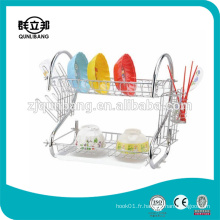 S Shape Hot Sell Metal Chrome Plated Kitchen Dish Rack
