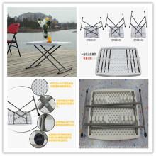 32-дюймовая выдувная форма HDPE Пластиковая высота Регулируемая таблица / Легкий вес Портативный складной стол / Стол для ноутбука / Настольная таблица для детей (HQ-SJ32)