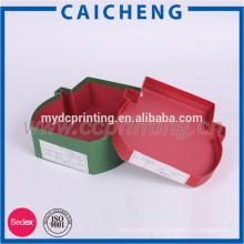 Boîte de cadeau de papier décoratif créatif de forme irrégulière rouge de Noël avec des couvercles