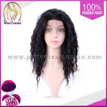 Peluca brasileña del frente del cordón del pelo de la Virgen del pelo sintético expreso brasileño micro del trenzado