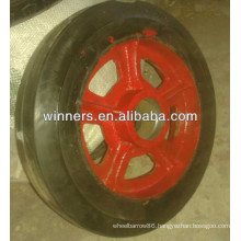 Cast iron Wheel with rubber strip 14inch