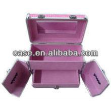 Exquisite aluminum+PVC cosmetic case