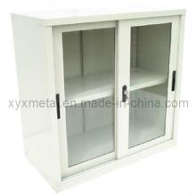 Cabinet de rangement faible pour portes coulissantes en verre exporté