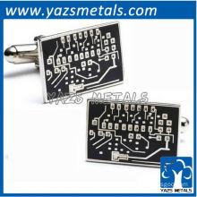Microchip cufflinks, customize high quality metal cufflink crafts