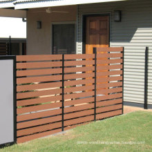 House Courtyard Decoration Aluminium Wood Fence Railing