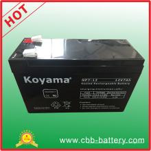 """Bateria acidificada ao chumbo de AGM de 12V 7ah para a iluminação de emergência, """"trotinette"""""""