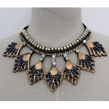 Lady Fashion Charm Kristall Modeschmuck Halsband Halskette (JE0165)
