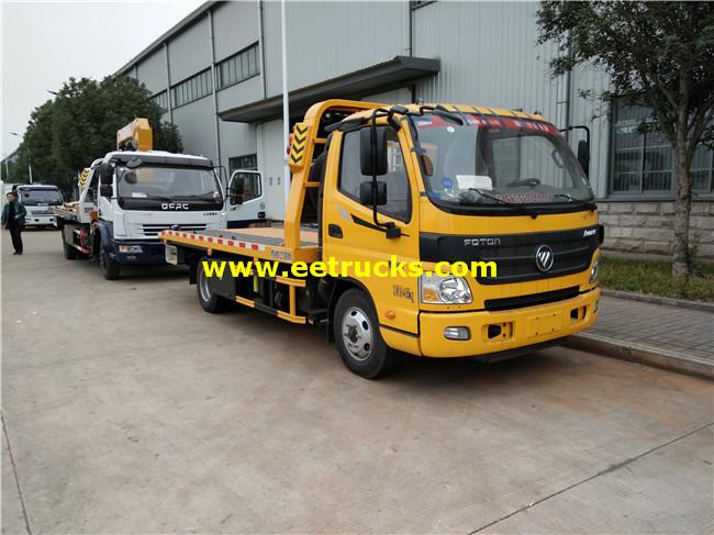Foton 4 Ton Flatbed Car Towing Trucks