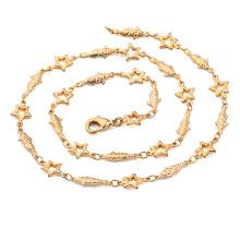 40780 xuping simples longo ouro cheio de jóias cadeia forma cadeias de imitação de jóias