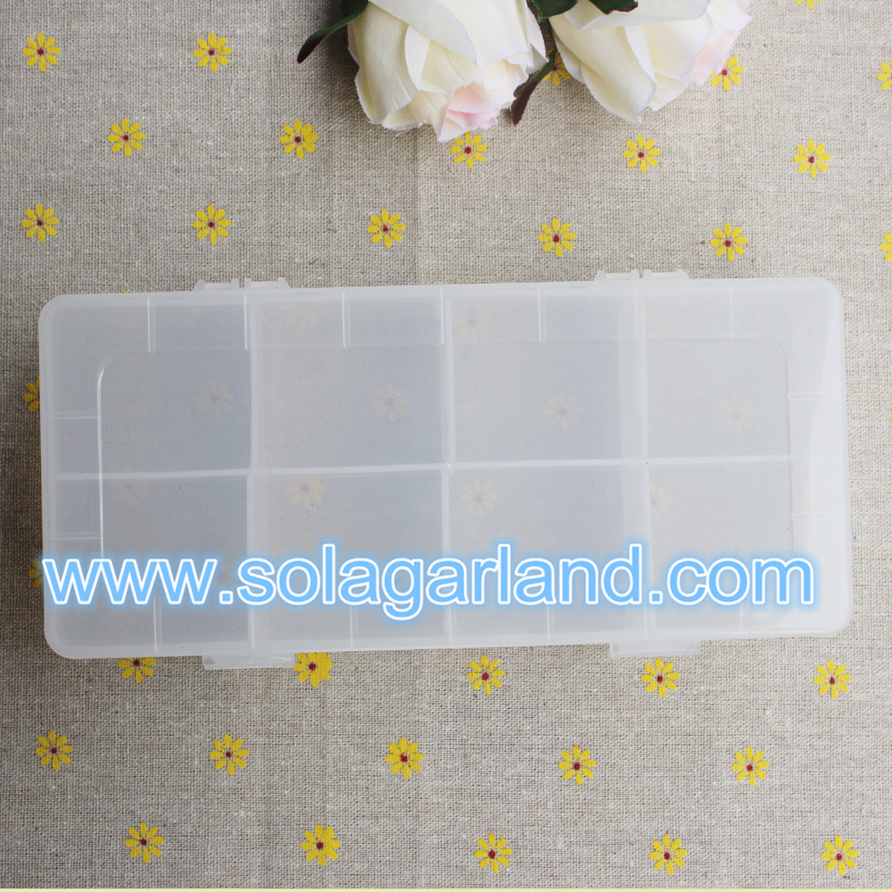 clear plastic jewelry storage box with 8 Slot