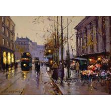 Pinturas pintadas à mão genuínas de Paris